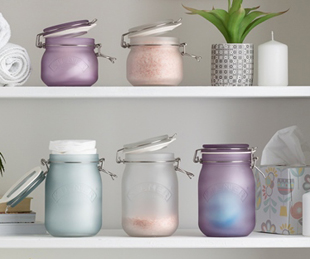 Frosted Clip Top Jars