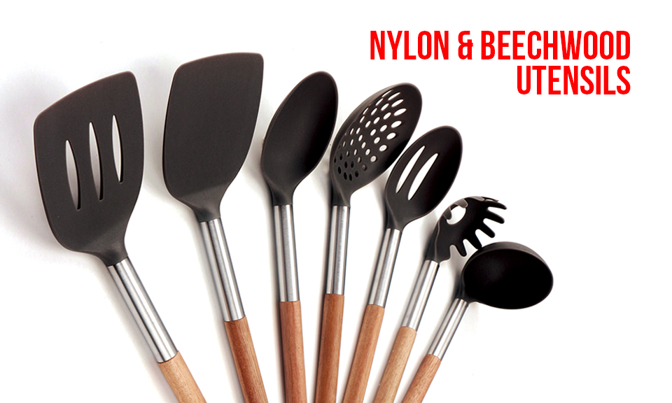 Living Nylon & Beechwood Utensils