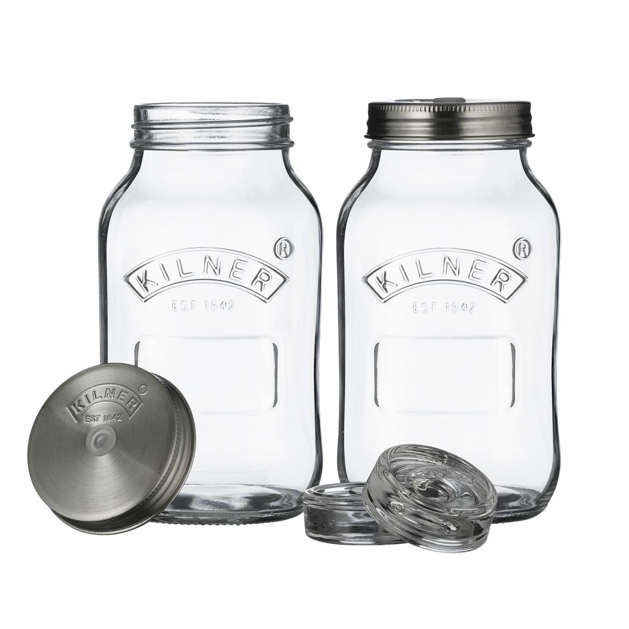 SET OF 2 FERMENTATION JARS