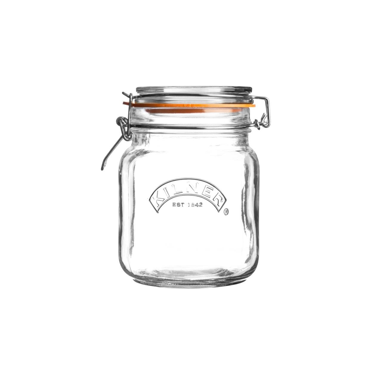 CLIP TOP SQUARE JAR 34 FL OZ