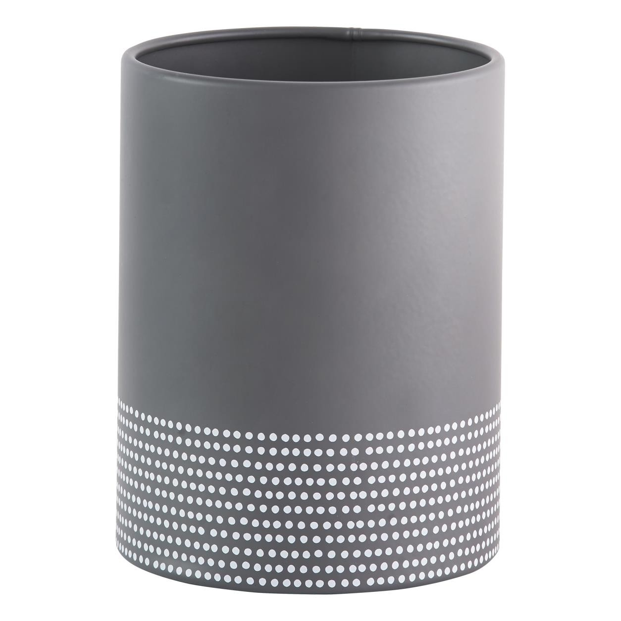 GREY MONOCHROME UTENSIL POT