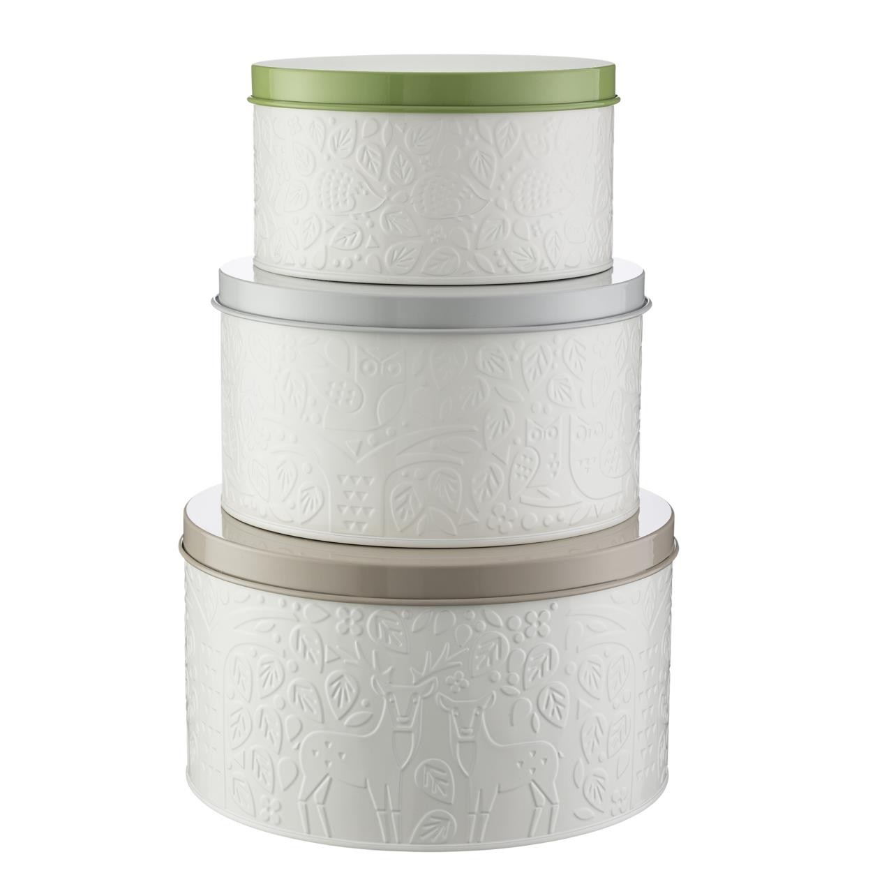 IN THE FOREST SET 3 CAKE TINS