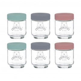 SET OF 6 KIDS JARS 6.4 US FL OZ