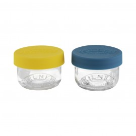 SET OF 2 SNACK AND STORE POTS 4 US FL OZ
