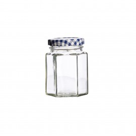 HEXAGONAL TWIST TOP JAR 3.7 FL OZ