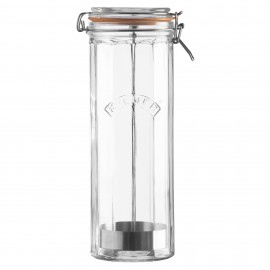 FACETTED CLIP TOP SPAGHETTI JAR 74 FL OZ