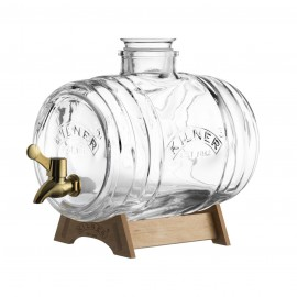 BARREL DRINKS DISPENSER 118 FL OZ