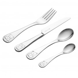 BERTIE 4PCE KIDS CUTLERY SET GIFTBOX