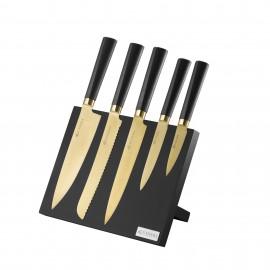 TITAN GOLD 6 PCE CUTLERY BLOCK GIFTBOX