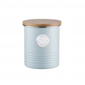 LIVING TEA CANISTER BLUE 33.8 FL OZ/1 QT