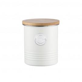 LIVING COFFEE CANISTER CREAM 33.8 FL OZ /1 QT