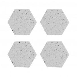 ELEMENTS TERRAZZO SET 4 HEXAGONAL COASTER