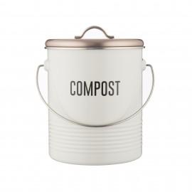 VINTAGE COPPER COMPOST CADDY