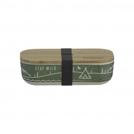 PURE STAY WILD BAMBOO FIBRE LUNCH BOX