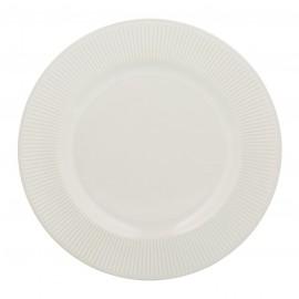 """LINEAR DINNER PLATE WHITE 10.6"""""""