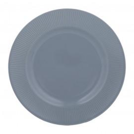 """LINEAR DINNER PLATE BLUE 10.6"""""""