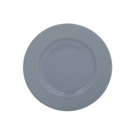 LINEAR SIDE PLATE BLUE 8.2""