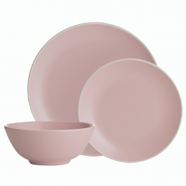 CLASSIC COLLECTION PINK 12 PIECE DINNERWARE SET