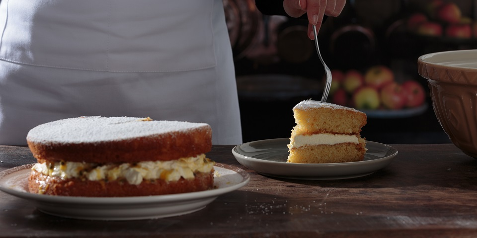 Mason Cash Passionfruit Sandwich Cake
